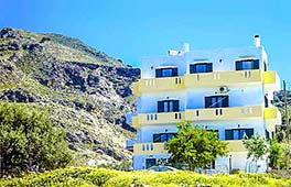 Frontansicht Four Seasons Apartments Sfakia, Kreta